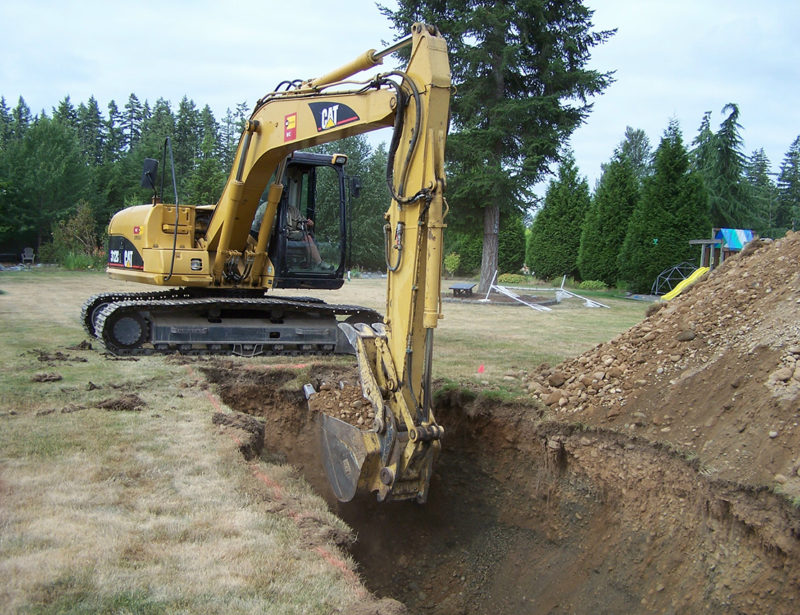 Digging out for our Tank and Leeching Bed, just outside of Beaverton.
